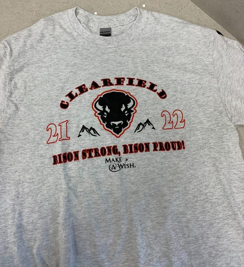 The 2021-2022 Make-A-Wish t-shirt design.